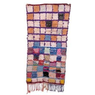 "Moroccan Boucherouite Carpet - 2'10"" x 5'3"""