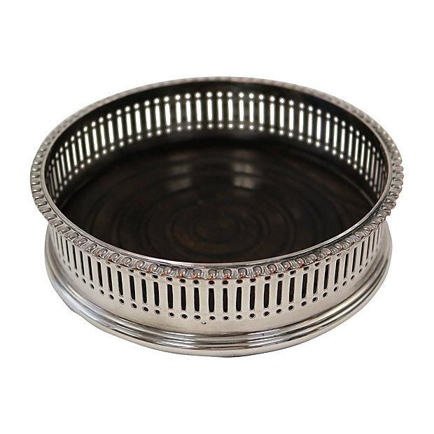 Image of English Silver-Plate Wine Coaster