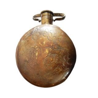 Vtg Bronze Hand-Warmer Flask