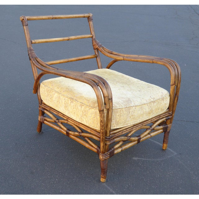 Vintage Rattan Accent Arm Chair - Image 6 of 11