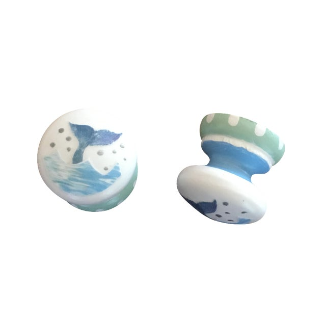 Whale Tail Cabinet Knobs - A Pair - Image 1 of 4
