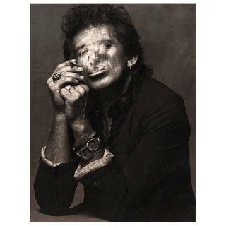 Keith Richards Smoking By Albert Watson