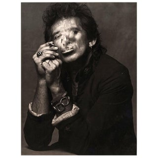 Keith Richards Smoking By Albert Watson