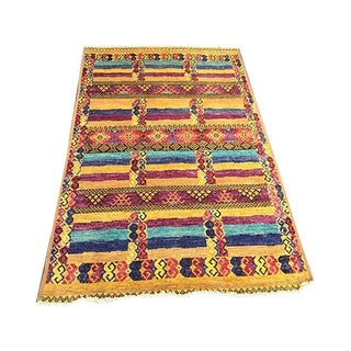 Moroccan Style Hand Knotted Rug - 5′4″ × 8′5″