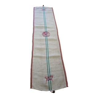 Vintage European Hemp Linen Table Runner