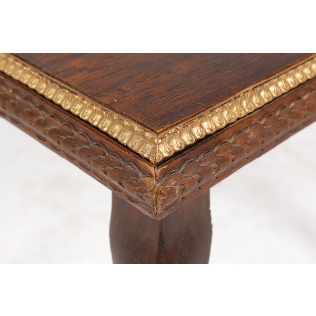 Queen Anne 1920s Gilt End Table - Image 4 of 7