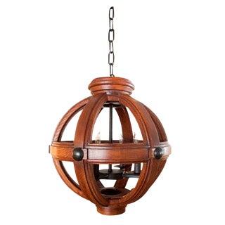 Paul Marra Small Carved Oak Sphere