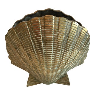 Vintage Brass Shell Vase