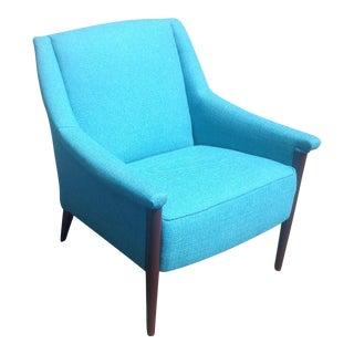 Mid-Century Modern Turquoise Club Chair