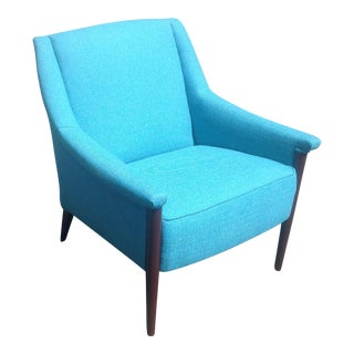 Mid-Century Modern Turquoise Club Chair