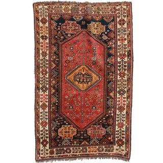 RugsinDallas Persian Shiraz Hand Knotted Wool Rug - 4′4″ × 7′3″