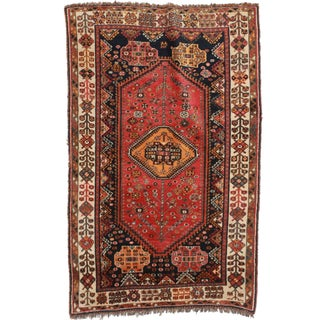 RugsinDallas Persian Shiraz Hand Knotted Wool Rug - 4′4″ × 7′3″