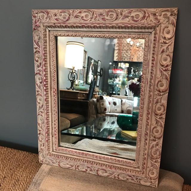 Vintage Carved Wood Mirror - Image 3 of 6