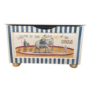 Custom Hand Painted Circus Scene Children's Storage Chest