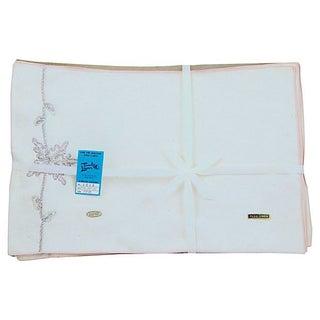 Vintage Cream Linen Placemats - Set of 4