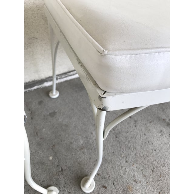 Vintage Woodard Wrought Iron Patio Chairs - Daisy Floral - Set of 4 - Image 7 of 8