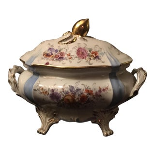 Floral & Gold French Tureen