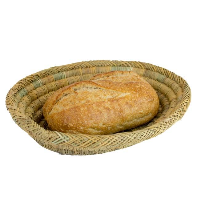 Handmade Rustic Moroccan Oval Bread & Fruit Basket - Image 2 of 3