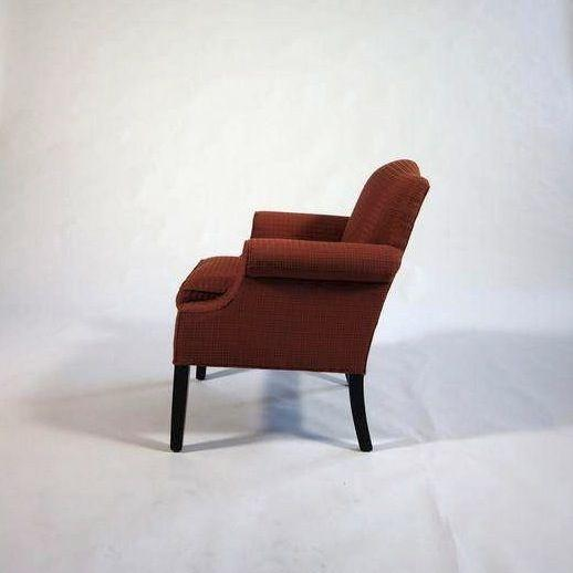 French Arm Chair With Red Checkered Fabric Chairish