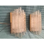 Image of Ice Glass/Brass Sconces by Doria - Pair