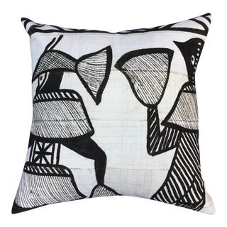 African Tribal Mudcloth Pillow