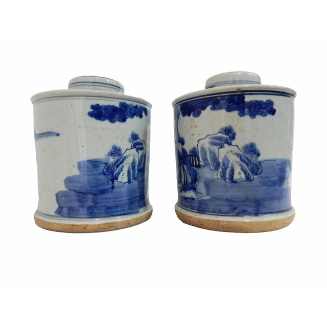 Image of B & W Ginger Jars - A Pair