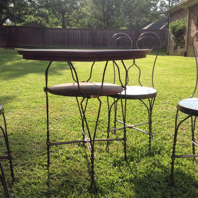 Vintage Ice Cream Parlor Table Set- 5 Pieces - Image 5 of 11