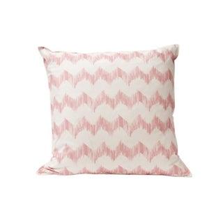 Pink Zig Zag Throw Pillow