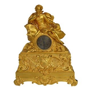 Gilt Bronze Christopher Columbus Figural Mantle Clock