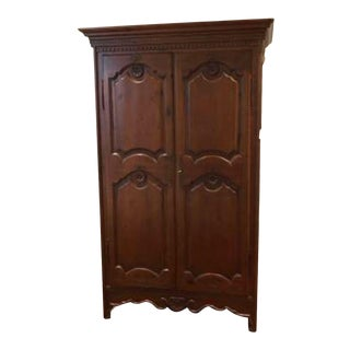 Vintage Wooden Clothing Armoire