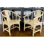 Image of Vintage Barrel Back Horseshoe Armchairs - A Pair