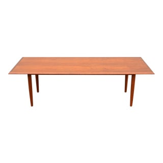Large Danish Solid Teak Coffee Table