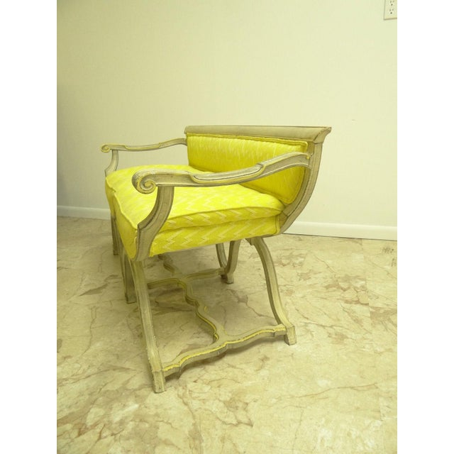 Vintage French Regency X Base Louis XV Settee Love Seat Recamier - Image 4 of 11