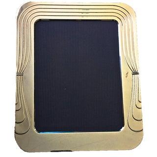 "Italian Silver Art Deco Style Frame-10""x12"""