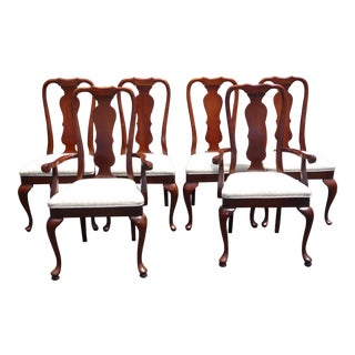 American of Martinsville Vintage French Chippendale Style Dining Chairs - Set of 6