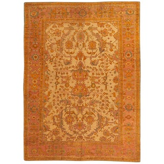 "Antique Anatolian Oushak Carpet - 18'5"" x 13'9"""