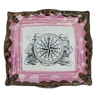 Antique English Nautical Lustre Plaque
