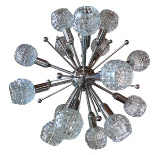 Italian Chrome Sputnik Chandelier