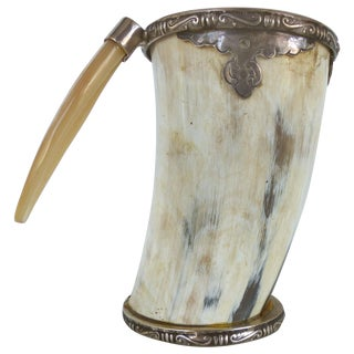 Prata Horn Hunt Cup with Silver Trim