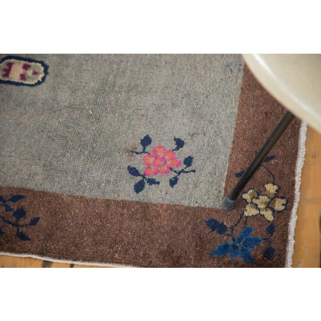 """Antique Art Deco Chinese Rug Mat - 2' X 2'11"""" - Image 4 of 7"""
