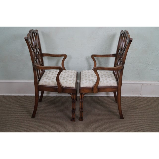 Smith & Watson Regency Style Arm Chairs - Pair - Image 3 of 10