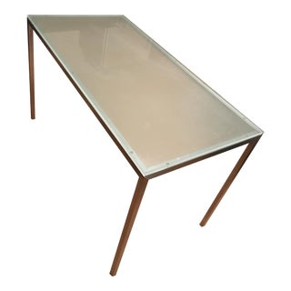 Box Frame Dining Table - Glass