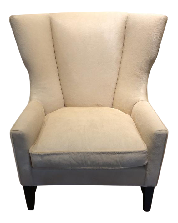 Vintage Used White Wingback Chairs Chairish
