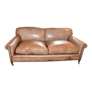 George Smith Tobacco Leather Sofa