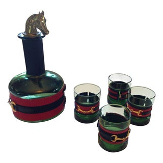 Equestrian Style Decanter Set