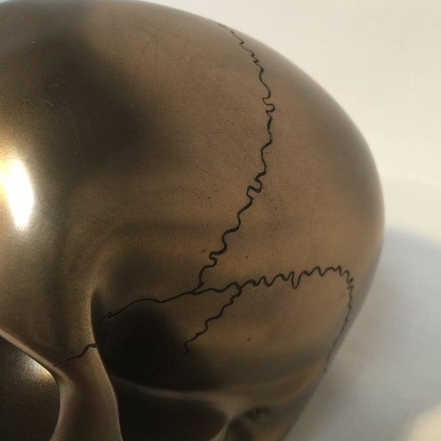Large Bronze Skull - Image 8 of 8