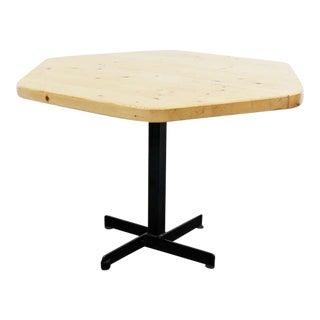 Rare Charlotte Perriand Hexagonal Table for Les Arcs
