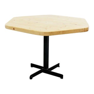Rare Charlotte Perriand Hexagonal Table for Les Arcs