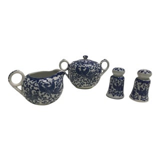 Blue & White Tea Accessories- Set of 4