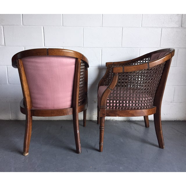 Hollywood Regency Vintage Chairs - a Pair - Image 4 of 8
